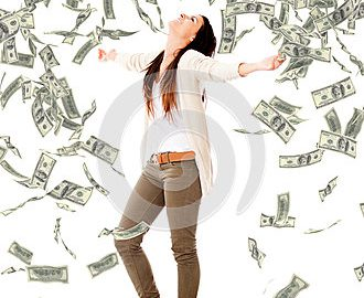 woman-under-money-rain-28975815